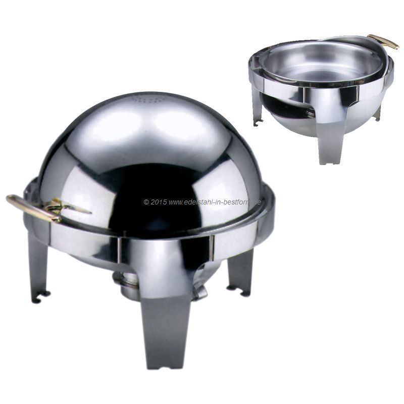 runde - Chafing - Dish / Chafing Dish mit Roll Top