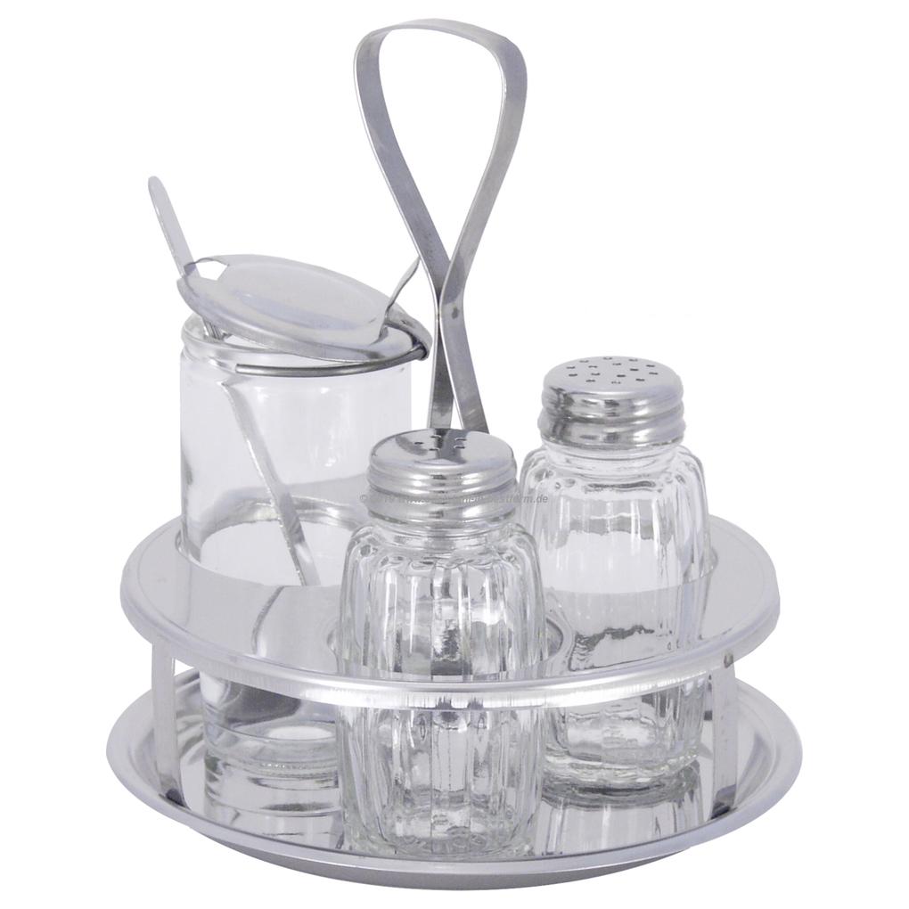mit Einsatz für die handelsübliche 125g-Maggiflasche® Menage für Salz /& Pfeffer